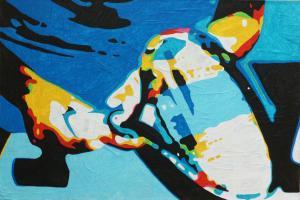 """TENNIS"" - Agosto 2015 89,5x60 Acrilico su tela"