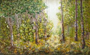 14 - Il bosco - Acrilico a spatola 24x38