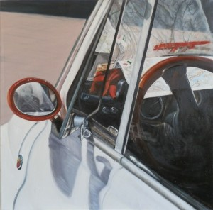 2013, E ORA DOVE SI VA, olio su tela, 60 x 60