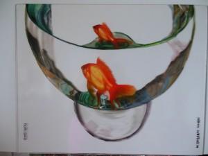 2014, DUALISMO, acrilico su plexiglass, 50 x 40