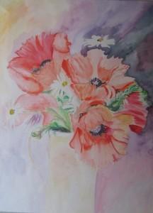 I primi fiori- Acquarello su carta - 57X76