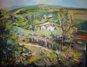 Primi giorni di Primavera in Umbria - 50×60 acrilico su tela