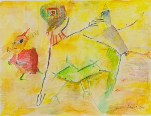 i danzatori 40 x 50 acquarello