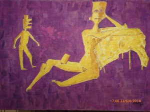 incastri 70 x 100 olio su tela