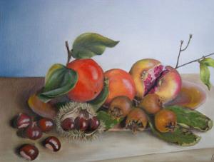 Frutta d'Autunno - 30x40 - olio su tela
