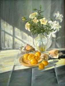 Natura morta con limoni - 40x50 - olio su tela