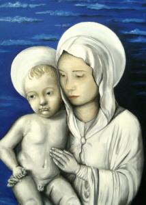 Omaggio a Della Robbia - 50x40 - olio su tela