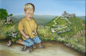 Piccolo San Francesco - 40x50 - olio su tela