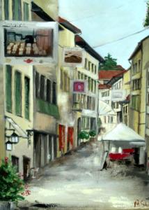 Via Madonna del Prato - 50x40 - olio su tela copia