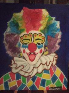 Clown allegro - acrilico su tela- 50x40