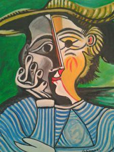 Donna con cappello - Olio su tela - 60x50