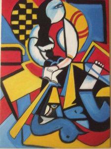 Duo Picasso by bochaton - olio su tela 50x40