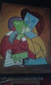 I compiti - Acrilico e olio su tela - 70x50