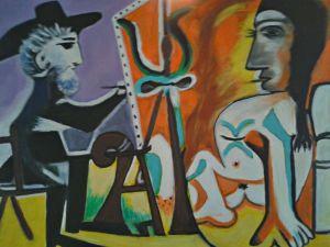 Il pittore e la modella - Olio su tela - 70x50