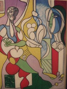 L'atelier il pittore e la modella - olio su tela 80x60