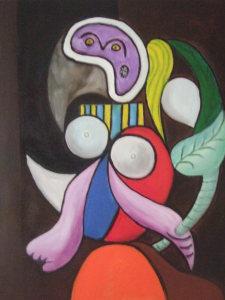 Picasso dipinti fiori-acq 50x40