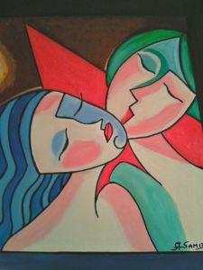 San Valentino Acrilico su tela 60x50