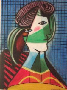 Tete de femme - olio su tela 50x40