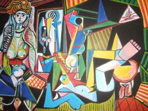OPERA N. 2 la donna di Algeri 100 x 70 olio su tela
