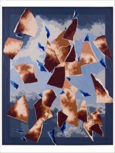 06 CIELO (2) - (Disgregazione) - 2011 - Acrilico su carta intelaiata - 80x100