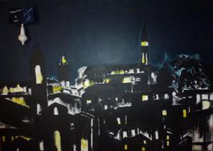 """""""Arezzo notturna""""          nell' Anno della  luce 2015"""